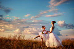 Ballerina mother and daughter Royalty Free Stock Image