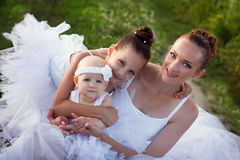 Ballerina mother and daughters Stock Photos