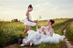 Ballerina mother and daughters Royalty Free Stock Image