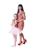Ballerina with mother Royalty Free Stock Image