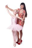 Ballerina with mother Royalty Free Stock Images