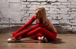 Ballerina in motie stock fotografie