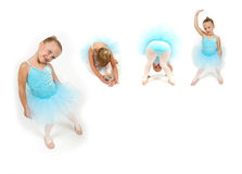 Ballerina Movement. The many poses of a little ballerina. Collage of ballerina moves Royalty Free Stock Images