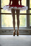 Ballerina near barre Royalty Free Stock Images