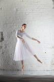 ballerina nel bianco Fotografie Stock