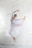 ballerina nel bianco Immagini Stock Libere da Diritti