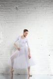 ballerina nel bianco Fotografie Stock Libere da Diritti