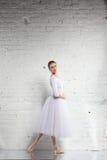 ballerina nel bianco Fotografia Stock