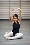 Ballerina nella classe Immagine Stock