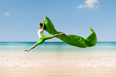 Ballerina On The Beach Royalty Free Stock Images