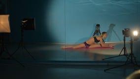 Ballerina opleiding stock video