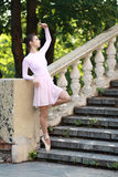 Ballerina outdoors Stock Photography