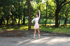 Ballerina outdoors Royalty Free Stock Images