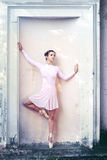 Ballerina outdoors Stock Images