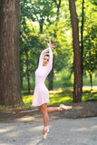 Ballerina outdoors Stock Photos