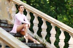 Ballerina outdoors Stock Photo