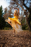 Ballerina Outside Stock Photo