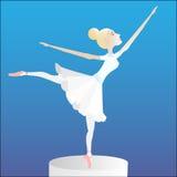 Ballerina på en sockel stock illustrationer
