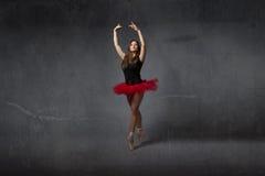 Ballerina på punkt Arkivbild