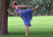 Ballerina in a Park stock images