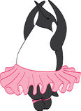 Ballerina Penguin Royalty Free Stock Photos
