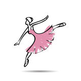 Ballerina perform dancing drawing Stock Image