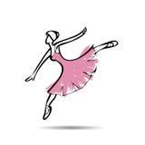 Ballerina perform dancing drawing Stock Image