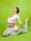 Ballerina  performing a dance Royalty Free Stock Images