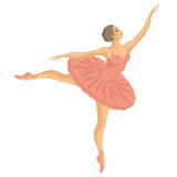 Ballerina in a pink tutu Royalty Free Stock Image