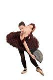 Ballerina playing ballet Stock Images