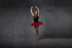 Ballerina on point stock photography