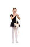 Ballerina with  pointe shoes Royalty Free Stock Photo