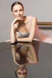Ballerina. Portrait reflection piano sexual Royalty Free Stock Images
