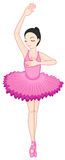 Ballerina pose on white Royalty Free Stock Photo