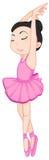 Ballerina pose on white Royalty Free Stock Photos