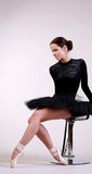 Ballerina posing Stock Photography