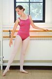 Ballerina Practicing Stock Photography