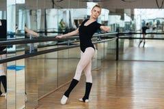Ballerina practicing in ballet class Royalty Free Stock Photos