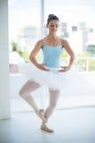 Ballerina practicing ballet dance stock image