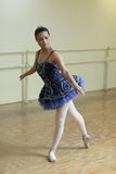 Ballerina practicing in a dance studio Royalty Free Stock Photography