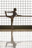 Ballerina Practicing At Rehearsal Royalty Free Stock Image