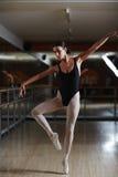 Ballerina Practicing in Studio Stock Image