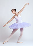 Ballerina in purpere tutu Stock Afbeelding