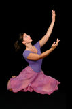 Ballerina Raising Hands Stock Photo