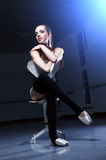 ballerina is relaxing in class room Royalty Free Stock Images