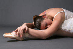 Ballerina Relaxing On Floor #2 Royalty Free Stock Photo