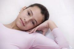Ballerina in roze royalty-vrije stock foto's