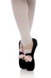 Ballerina's feet on Pointe stock photography