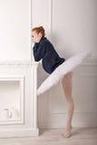 Ballerina sad fireplace Royalty Free Stock Images