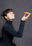 Ballerina and sandwich Royalty Free Stock Image